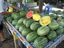 Wassermelonenshow Stockbild