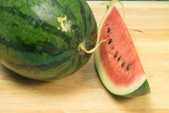 Wassermelonenweißhintergrund Stockbilder