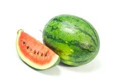 Wassermelonenweißhintergrund Lizenzfreie Stockfotografie