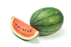 Wassermelonenweißhintergrund Stockfotografie