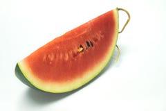 Wassermelonenweißhintergrund Stockfotos