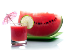 Wassermelonesaft Stockfotografie