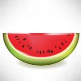Wassermelonescheibe Lizenzfreie Stockfotos