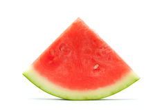 Wassermelonescheibe getrennt Lizenzfreie Stockfotografie