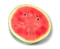 Wassermelonescheibe getrennt auf Weiß Lizenzfreies Stockbild