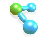 Wassermolekül Lizenzfreie Stockfotos