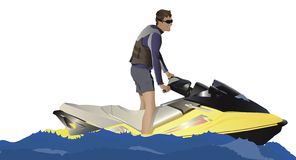 Wassermotorradfahrrad Lizenzfreie Stockfotos