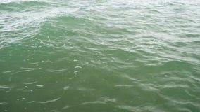 Wasseroberfläche mit flachen Kräuselungen stock footage