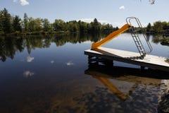 Wasserplättchen auf dem See Lizenzfreie Stockfotografie