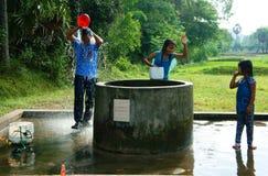 Wasserquelle vom Grundwasser an der Mekong-Delta Lizenzfreies Stockbild