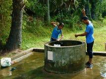 Wasserquelle vom Grundwasser an der Mekong-Delta Lizenzfreie Stockbilder