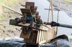 Wasserrad für Fangfischweinlese Lizenzfreies Stockfoto
