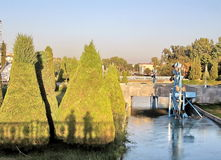 Wasserrad Taschkents Almazar, das 2007 glättet Stockfotografie