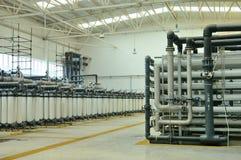 Wasserreinigungfabrik Lizenzfreies Stockbild