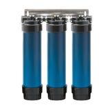 Wasserreinigungsapparat-Filterelement lokalisiert auf Weiß Lizenzfreies Stockbild