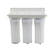 Wasserreinigungsapparat-Filterelement lokalisiert auf Weiß Lizenzfreies Stockfoto