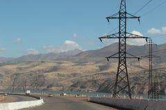 Wasserreservoir in Ost-Usbekistan Lizenzfreies Stockfoto