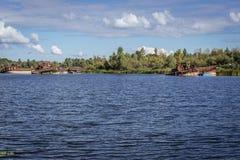 Wasserreservoir in Tschornobyl Lizenzfreies Stockbild