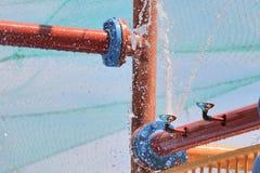 Wasserrohre Stockfoto