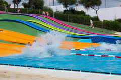 Wasserrutsche an Illa Fantasia-waterpark Stockfoto