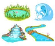 Wassersatz lizenzfreie abbildung