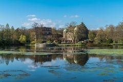 Wasserschloss Wittringen, Gladbeck, Noordrijn-Westfalen, Kiem Stock Fotografie