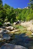 Wasserschlucht in Korsika Stockbild