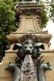 Wasserspeier auf Ceres Brunnen Stuttgart Lizenzfreie Stockfotos