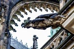 Wasserspeier auf der Kathedrale von St. Vitus in Prag Lizenzfreie Stockfotografie