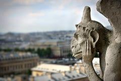 Wasserspeier auf Notre- Damekathedrale stockbilder