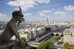 Wasserspeier bei Notre Dame in Paris Stockbild