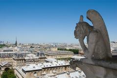 Wasserspeier des Notre Dame de Paris Stockfotos