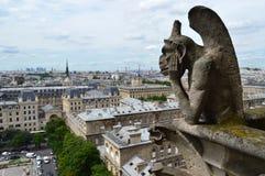 Wasserspeier Notre Dame de Paris Lizenzfreie Stockfotos
