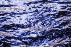 Wasserspiegel, Wasser in der Bewegung Reflektierte Struktur der Umgebungen wird durch die Bewegung des Wassers verzerrt Abstrakte Lizenzfreie Stockfotografie