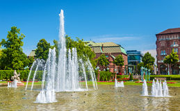 Wasserspiele fountain on Friedrichsplatz square in Mannheim - Ge Stock Images