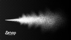 Wassersprühnebeleffekt vektor abbildung