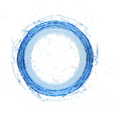 Wasserspritzen Radial-3d Illustration 3d übertragend lizenzfreie abbildung