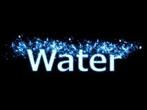 Wasserspritzentext Lizenzfreie Stockbilder
