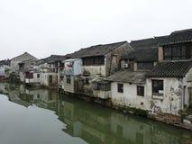 Wasserstadt nahe Shanghai Stockfotografie