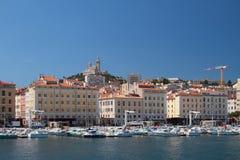 Wasserstand alter Hafen Marseille, Frankreich Stockfotografie