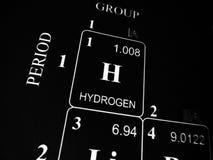Wasserstoff auf dem Periodensystem stockfotos