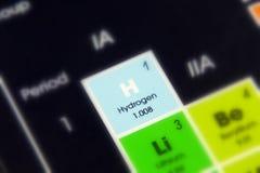 Wasserstoff des chemischen Elements lizenzfreie stockbilder