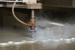 Wasserstrahlausschnitt Stockbilder