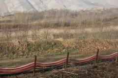 Wassersystem an hambach Deutschland Tagesbergbau der Kohle lizenzfreies stockfoto