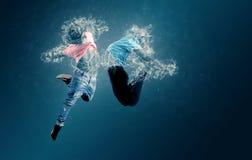 Wassertänzer Stockbild