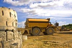 Wassertanker in einer Zementfabrik Großbritannien Lizenzfreie Stockbilder