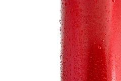 Wassertröpfchen auf einer Metalloberfläche Stockfotos