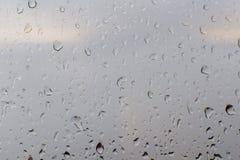 Wassertröpfchen auf Glas Stockfotografie