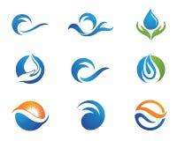 Wassertröpfchen-Logoschablone Stockfotos