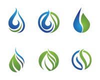 Wassertröpfchen-Logoschablone Stockfotografie